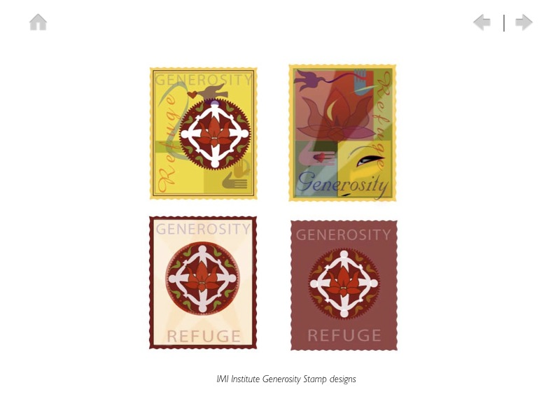 IMI Institute Generosity Stamp Designs